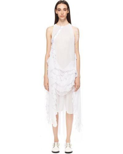 Белое платье из полиэстера Nicopanda