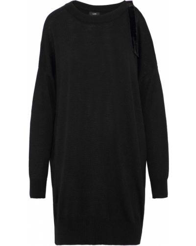 Черное бархатное платье Line