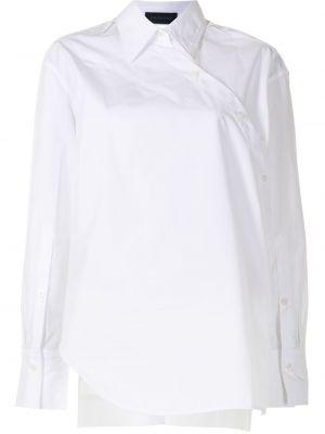 Хлопковая с рукавами белая рубашка Eudon Choi