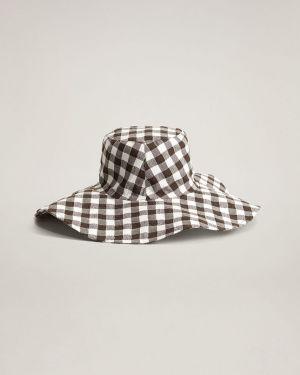Brązowy czapka beanie bawełniany Mango