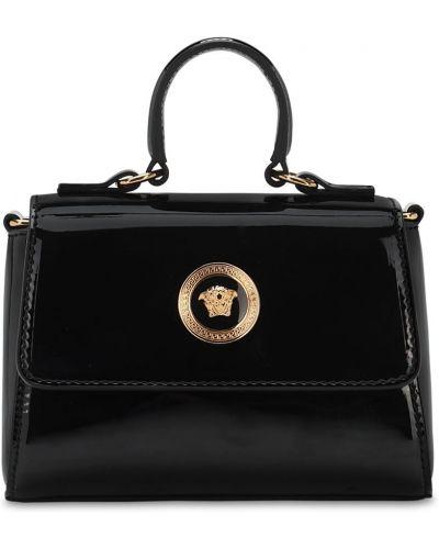 Z paskiem czarny torba metal Versace
