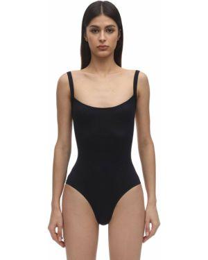 Слитный купальник с декольте - черный Laura Urbinati