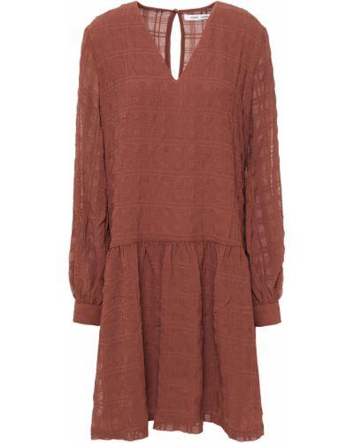 Коричневое платье с подкладкой на пуговицах SamsØe Φ SamsØe