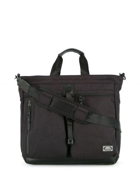 Черная сумка-тоут на молнии круглая As2ov