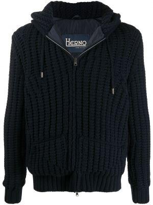 Куртка из альпаки - синяя Herno
