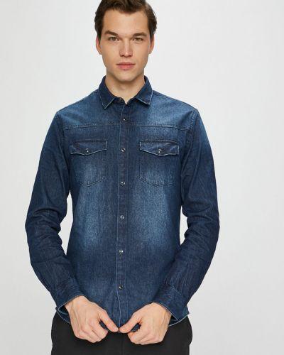 Джинсовая рубашка с длинным рукавом с карманами Only & Sons
