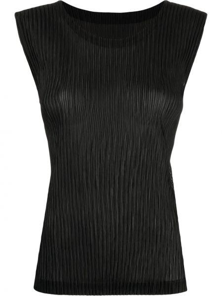 Czarna kamizelka bez rękawów Issey Miyake