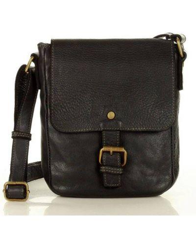 Czarna torebka skórzana Mazzini