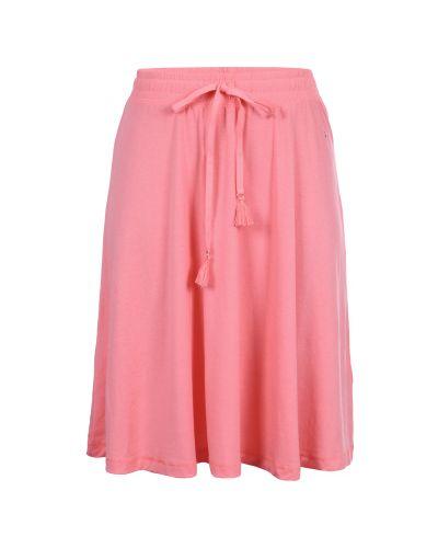 Городская розовая юбка с поясом Luhta