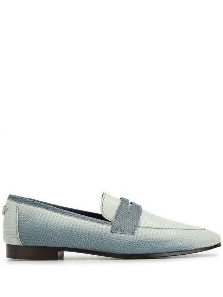 Białe loafers skorzane płaska podeszwa Bougeotte