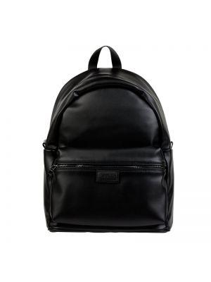 Czarny plecak na laptopa na rzepy Guess