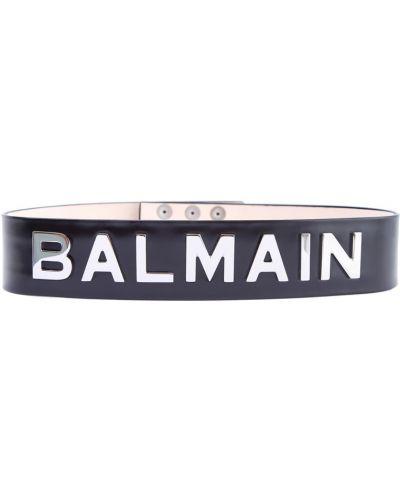 Черный широкий ремень металлический с поясом с декоративной отделкой Balmain