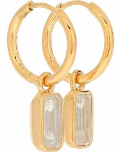Желтые серьги-гвоздики позолоченные с топазом Theodora Warre