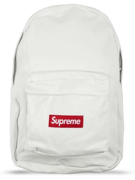 Biały plecak Supreme