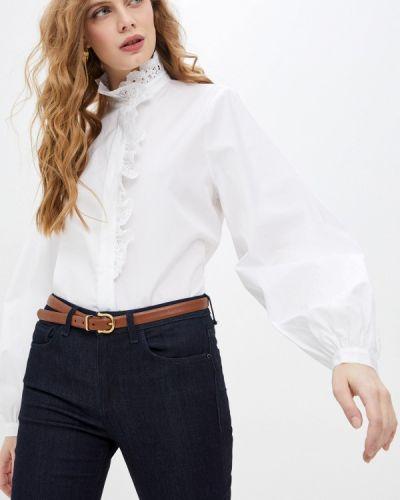 Белая блузка с оборками Paul & Joe