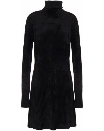 Черное платье мини из вискозы Bella Freud