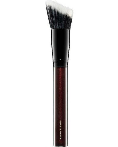 Miękki czarny pędzel do makijażu z aplikacjami z gęstej tkaniny Kevyn Aucoin