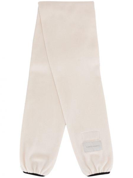 Biały szalik z łatami Fumito Ganryu