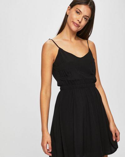 Платье с V-образным вырезом - черное Review