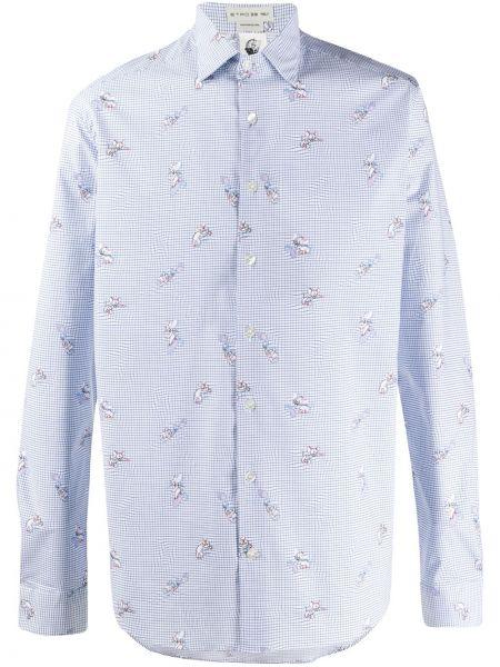 Koszula z długim rękawem klasyczna niebieski Etro