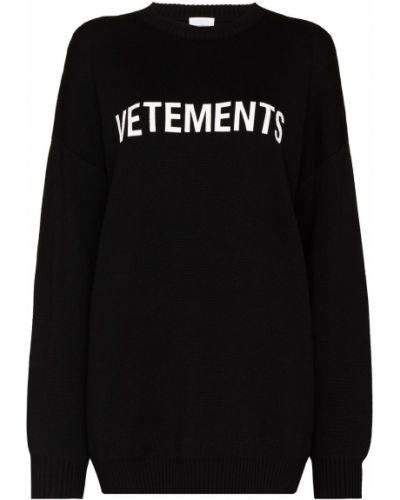 Вязаный джемпер - черный Vetements