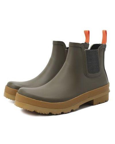 Серые кожаные ботинки челси с шипами Swims