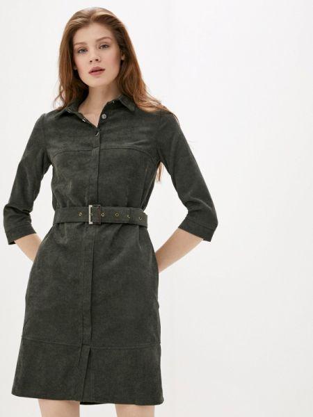 Платье платье-рубашка зеленый Pf