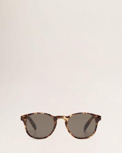 Солнцезащитные очки стеклянные коричневый Mango Man