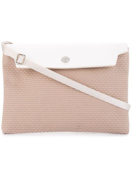 Хлопковая плетеная розовая маленькая сумка Cabas