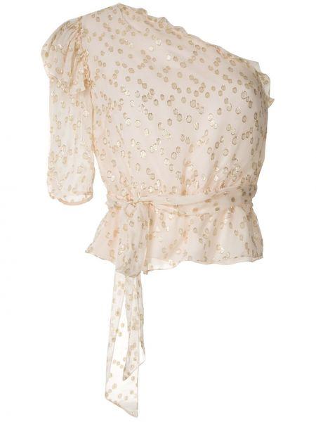 Блузка розовая с люрексом НК