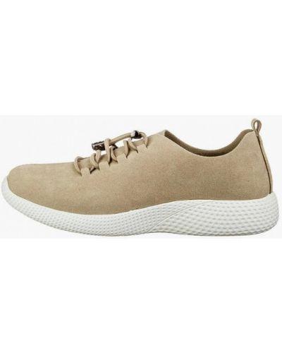 Кожаные кроссовки - бежевые Grunberg