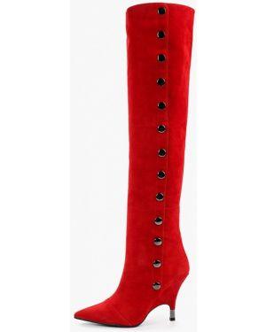 Ботинки на каблуке осенние красные Graciana