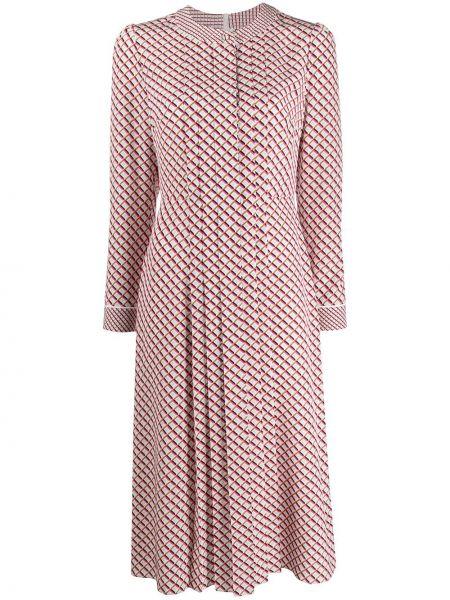 Платье миди розовое на пуговицах Escada