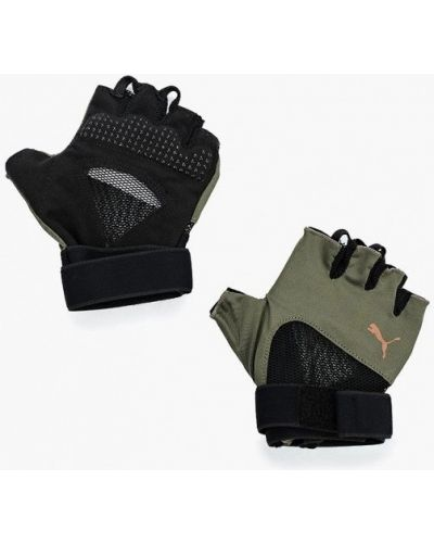Перчатки зеленый для фитнеса Puma