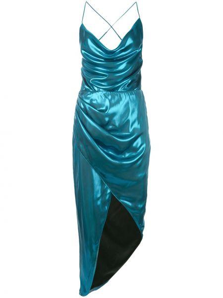 Niebieska sukienka asymetryczna Haney