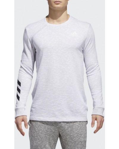 Белый спортивный лонгслив Adidas