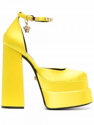 Лодочки на шпильке - желтые Versace