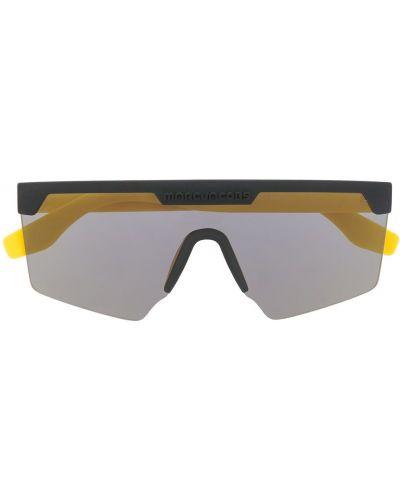 Массивные прямые желтые солнцезащитные очки Marc Jacobs Eyewear