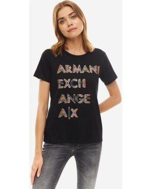 Футболка черная Armani Exchange