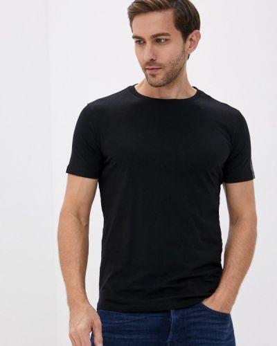 С рукавами черная футболка Replay