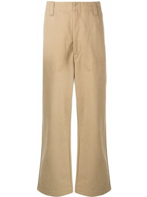 Bawełna żółty spodnie z kieszeniami zapinane na guziki Acne Studios