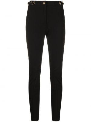 Брюки с завышенной талией - черные Versace Jeans Couture