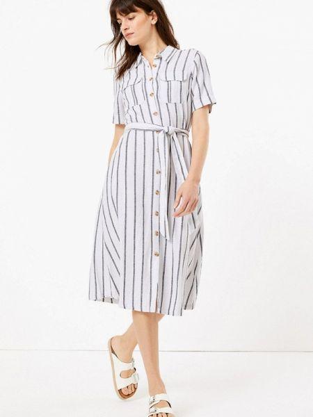 Платье платье-рубашка весеннее Marks & Spencer