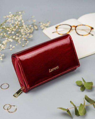 Czerwony złoty portfel Lorenti