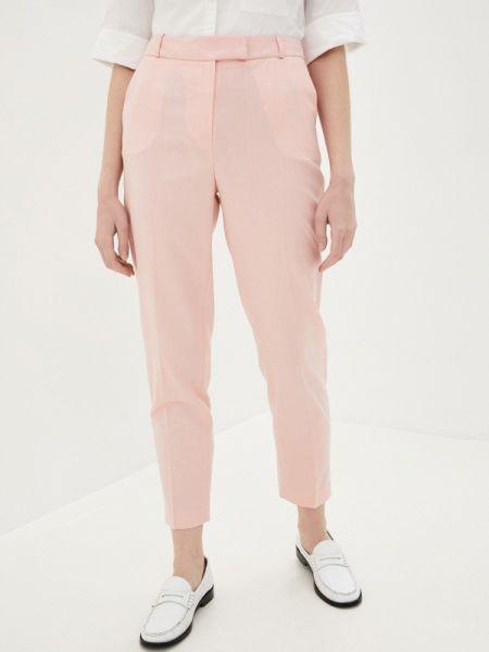Розовые классические брюки с карманами Lusio