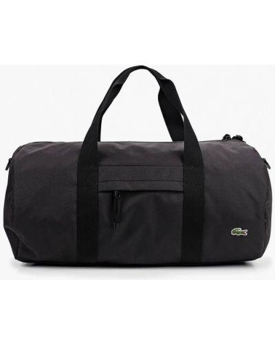 Спортивная сумка текстильная черная Lacoste