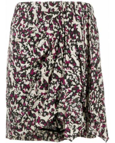 Черная с завышенной талией плиссированная юбка мини Isabel Marant