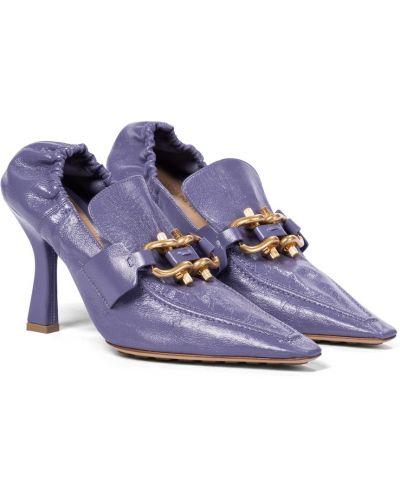 Кожаные желтые туфли-лодочки на каблуке Bottega Veneta