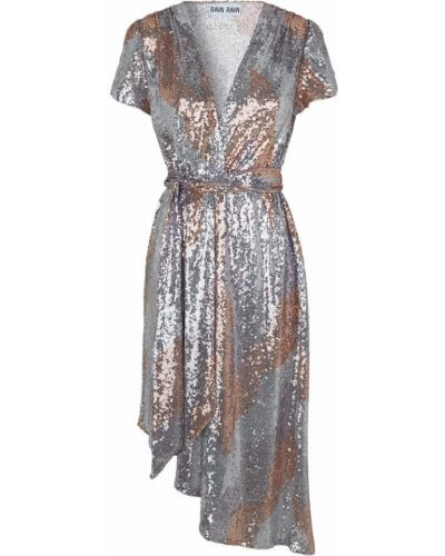Szara brokatowa sukienka mini Ravn