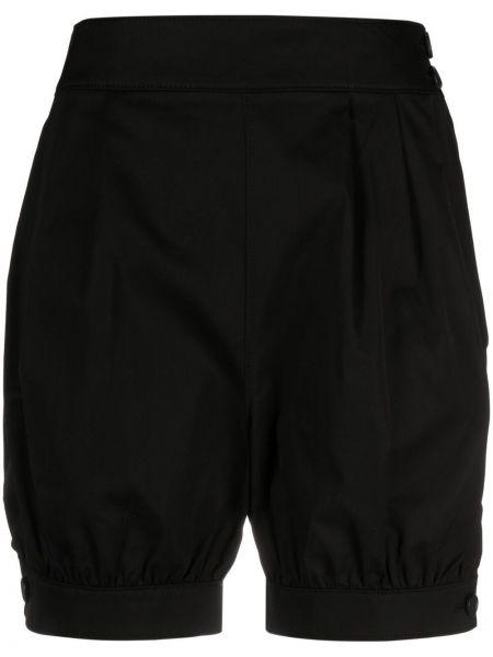Хлопковые черные шорты с манжетами Junya Watanabe